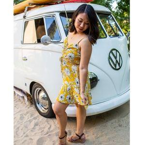 Row A | yellow floral summer dress size xl